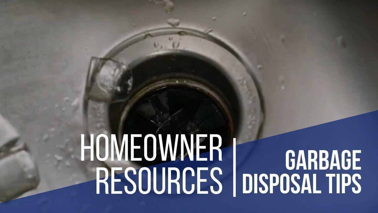 David Weekley Homes 2Minute Tip Garbage Disposal Tips