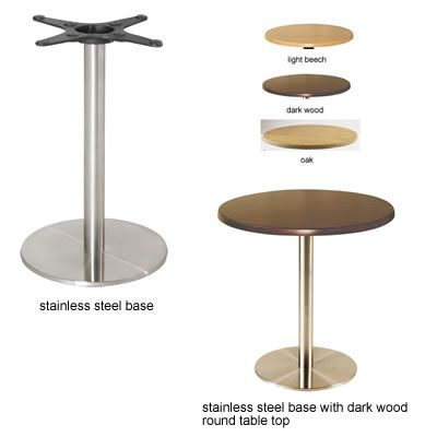 720mm Stainless Steel Round Base With Round Table Top Dining Table In Kitchen Quality Furniture Restaurant Tables