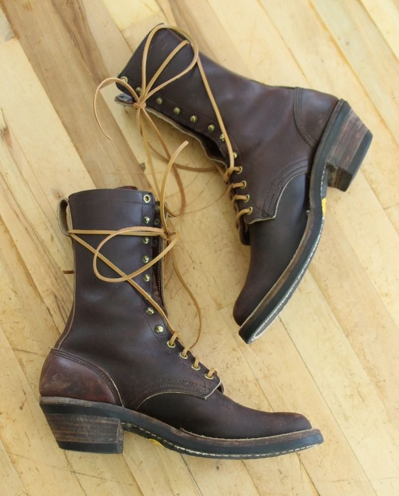 9f28cd0cb45 Details about Hathorn By Whites Packer Lace Up Cowboy Western Boots ...