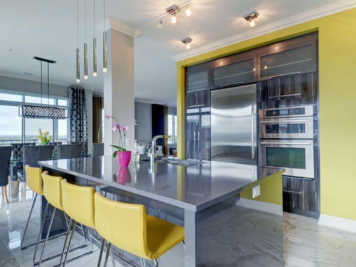 quand une touche de couleur qui fait toute la diff rence cuisines pinterest touche de. Black Bedroom Furniture Sets. Home Design Ideas