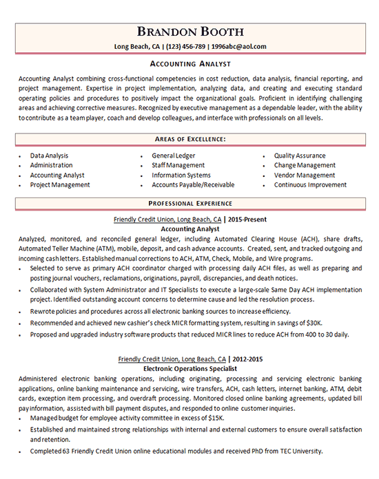 Accounting Analyst Resume Examples Accountant Resume Job Resume Examples