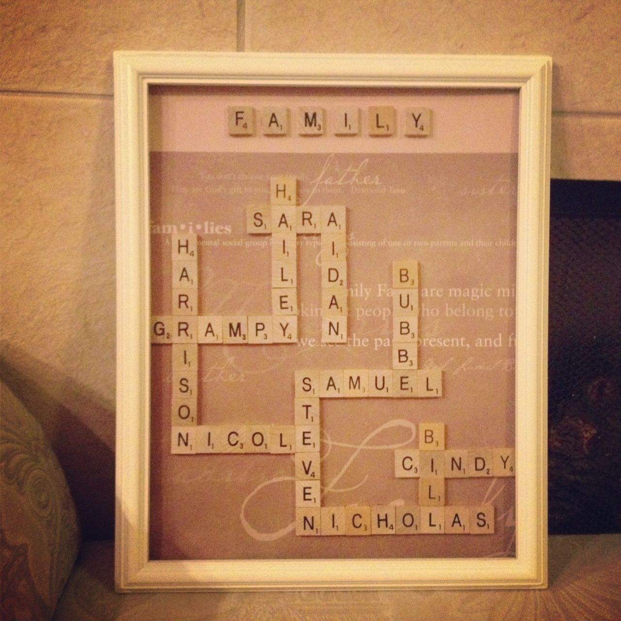 Christmas Ideas For Husband: Made This For My Husband's Mother. It's My First Personal
