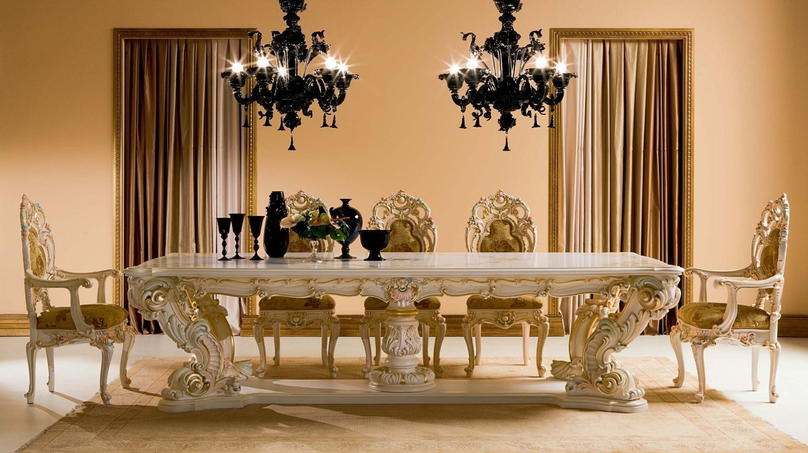 Room · White Dining Table With Luxury ...
