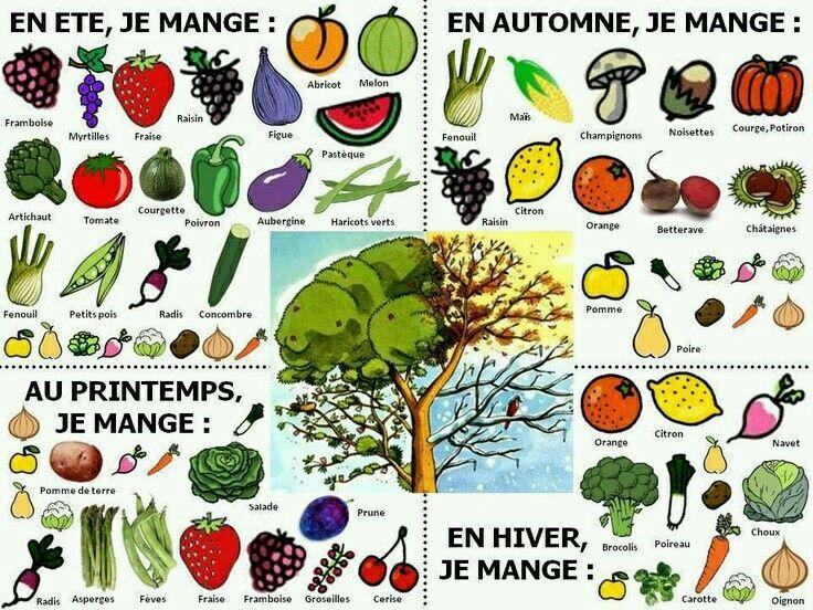 Des Fruits Et Legumes Franzosisch Franzosischunterricht Ernahrungslehre
