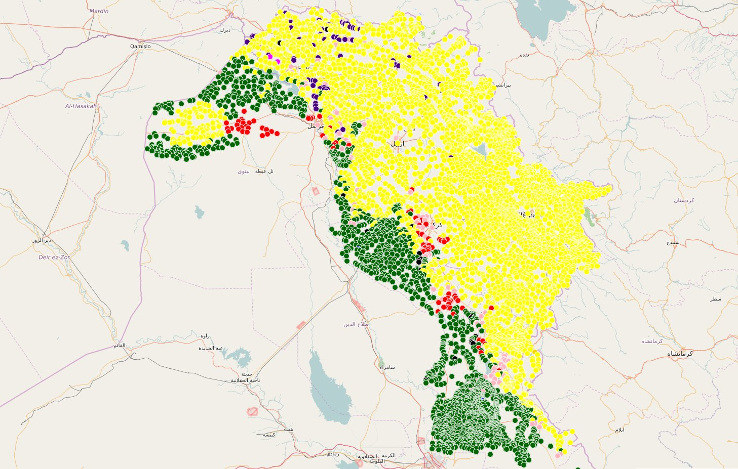 Ethnographic map of South Kurdistan by AryanShahrazur link u