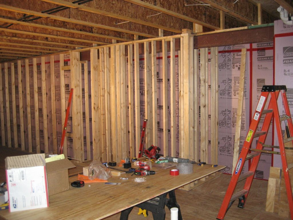 Framing off joists | Home Theater | Pinterest
