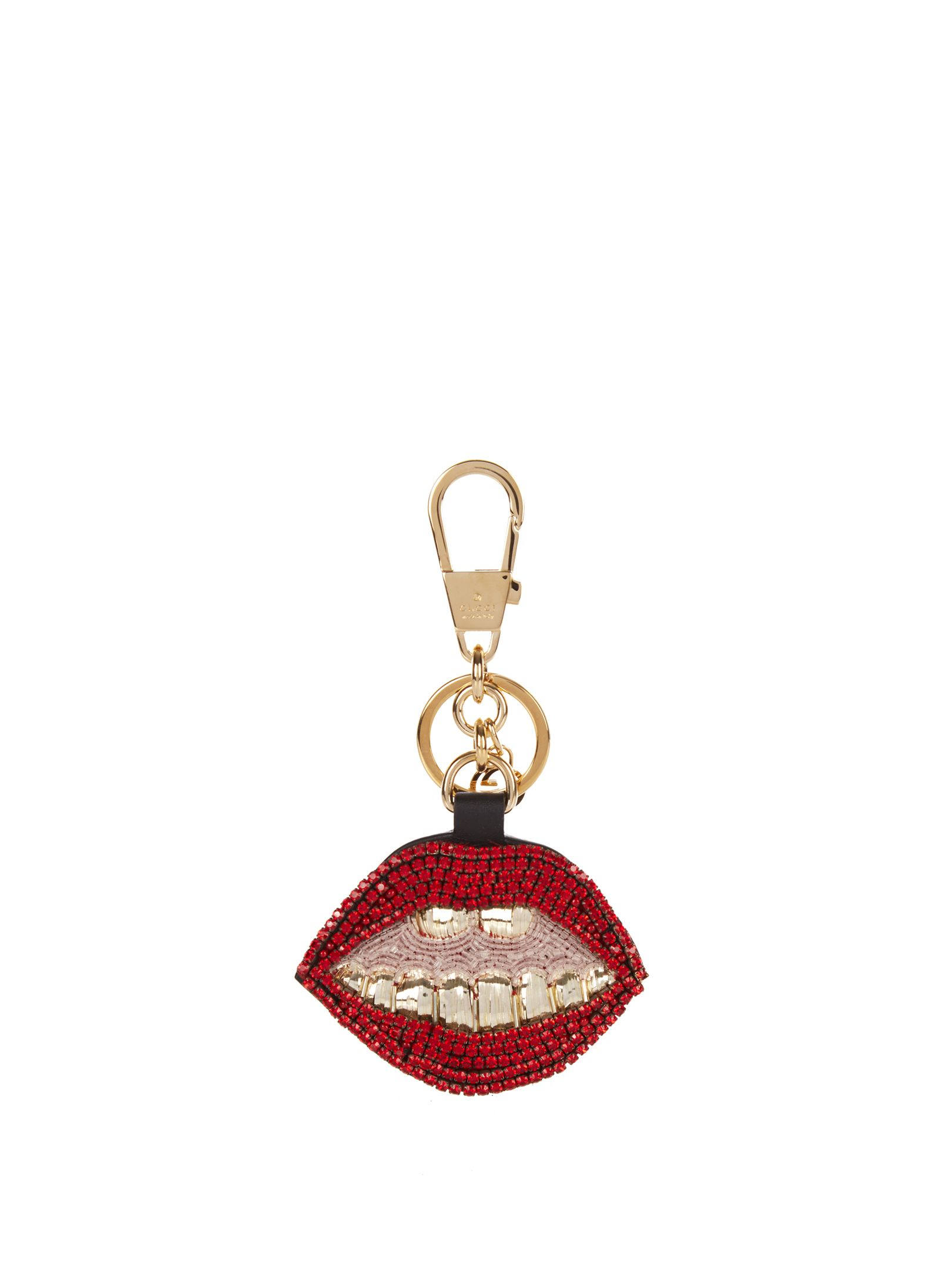 4311cc4d394 Gucci Mouth crystal-embellished key ring  550