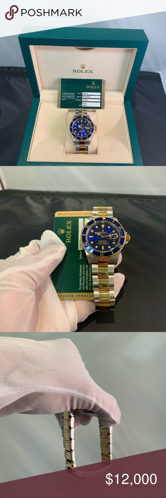 Rolex Submariner Two tone Rolex submariner 16613 Card dated 2008  Just polished and serviced will come with a one year warranty  Delman Watch Service, Cranston RI   Contact for any additional info   Watch and card (add $200 for box) Rolex Accessories Watches #rolexsubmariner Rolex Submariner Two tone Rolex submariner 16613 Card dated 2008  Just polished and serviced will come with a one year warranty  Delman Watch Service, Cranston RI   Contact for any additional info   Watch and card (add $200 #rolexsubmariner