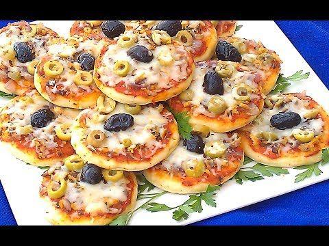 48 ميني بيتزا بدون فرن في المقلاة بحشوة سهلة ولذيييذة سريعة التحضير لمائدة رمضان Youtube Mini Pizza Food And Drink Food