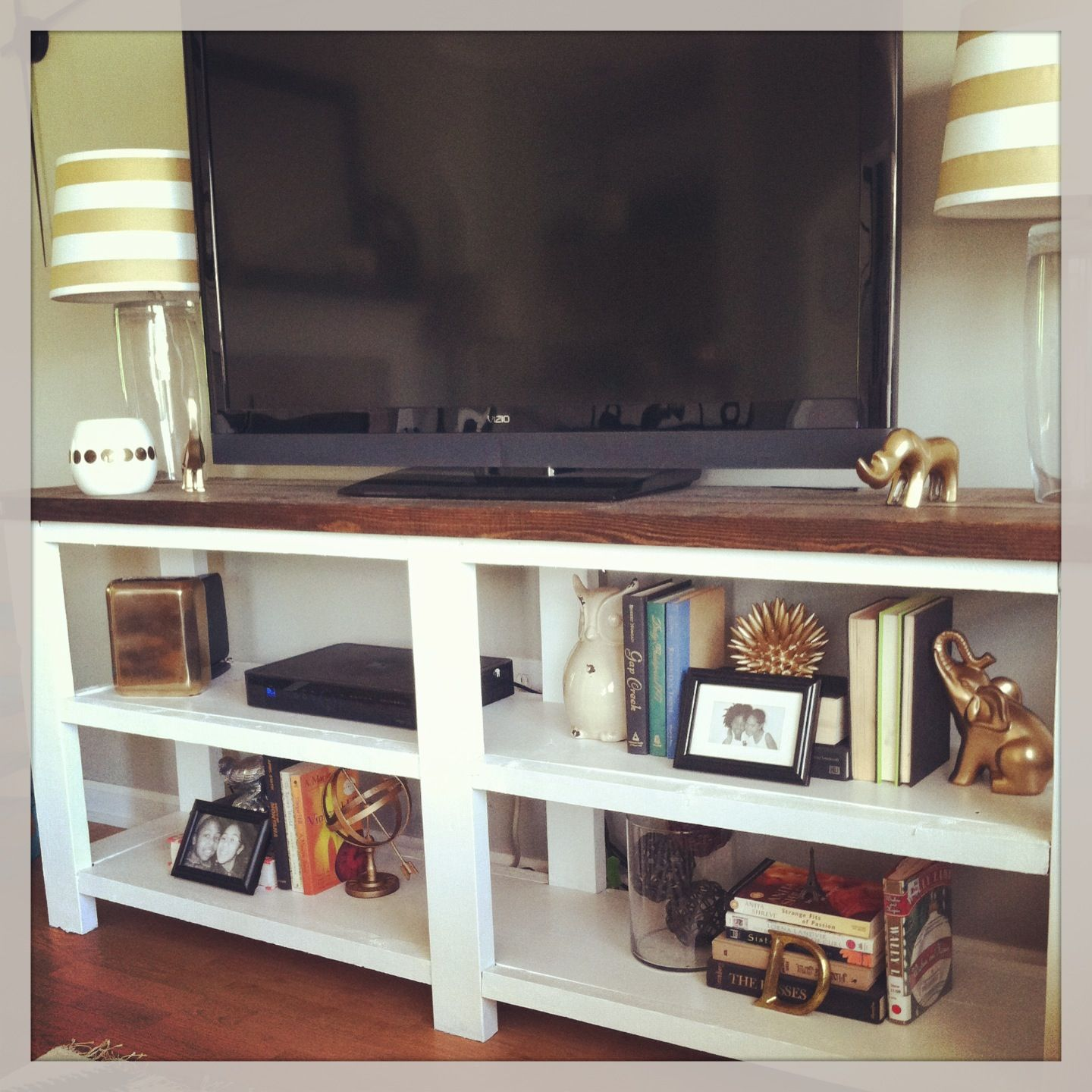 DIY tv stand /Ana white rustic x console table