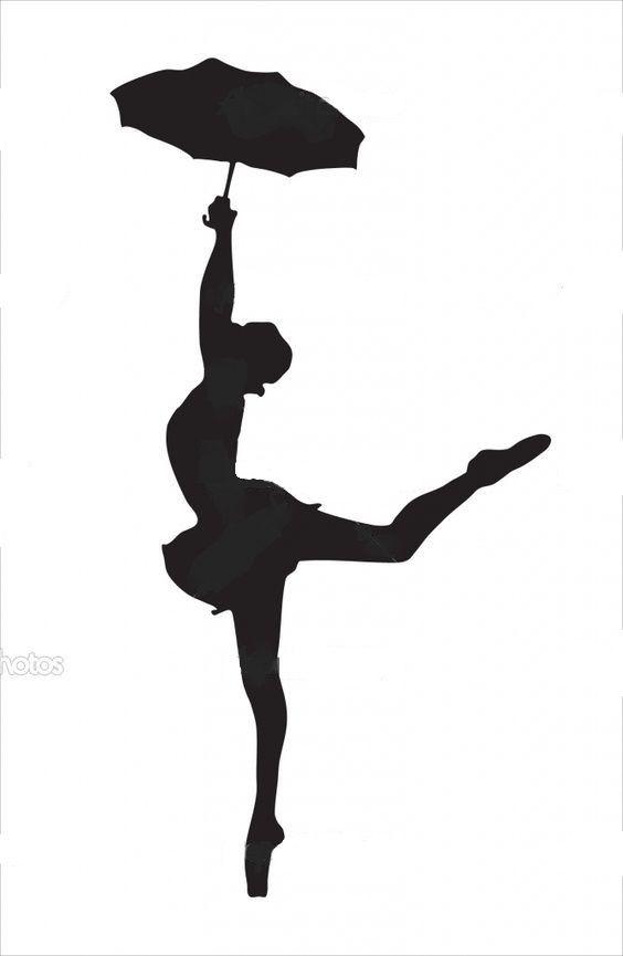 ballerina with umbrella  dancer with umbrella  crayon