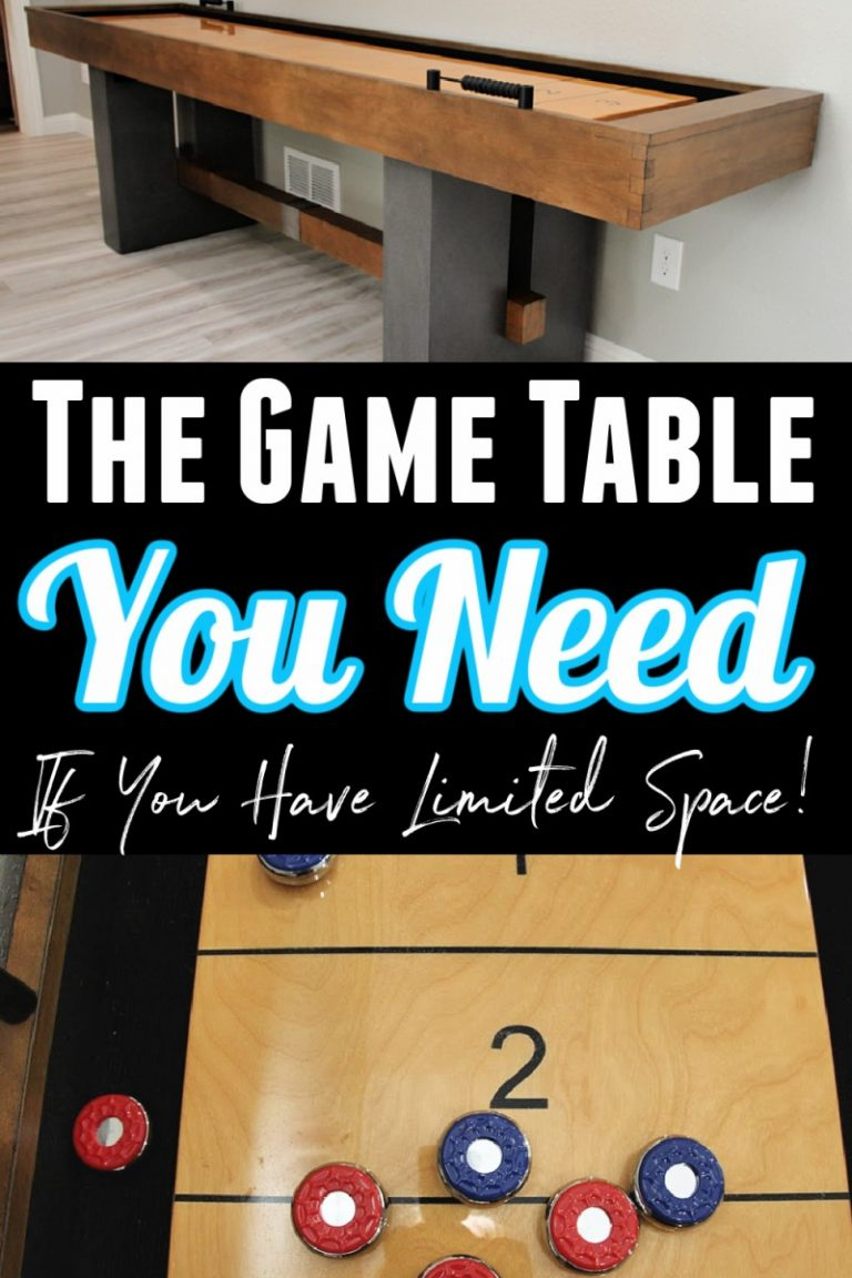 The Game Table You Need With Limited Space Barrington Urban Collection Shuffleboard Table Review In 2020 Night Light Kids Shuffleboard Table Table Games