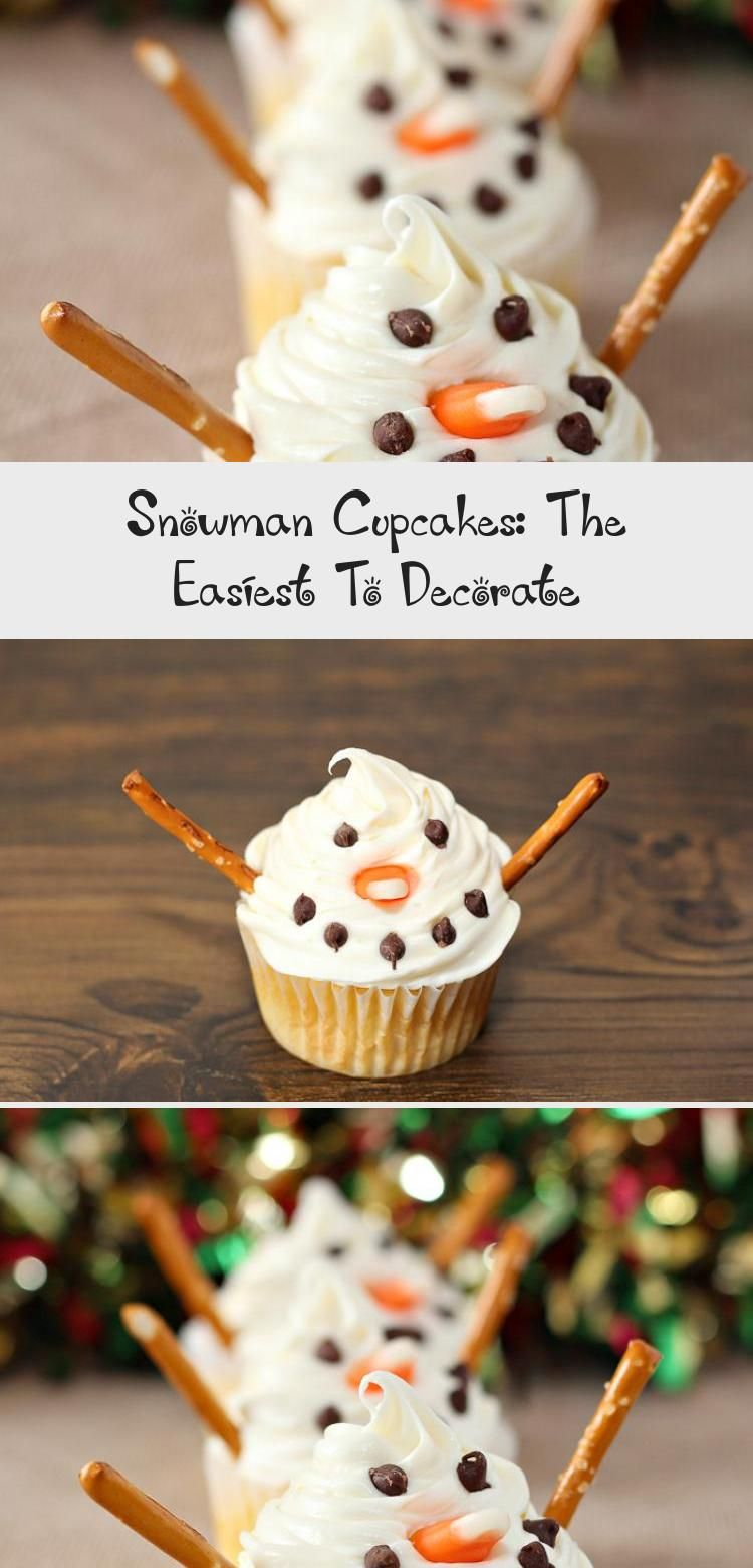 Photo of Make these snowman cupcakes for a winter treat or a kids' treat for the holidays…
