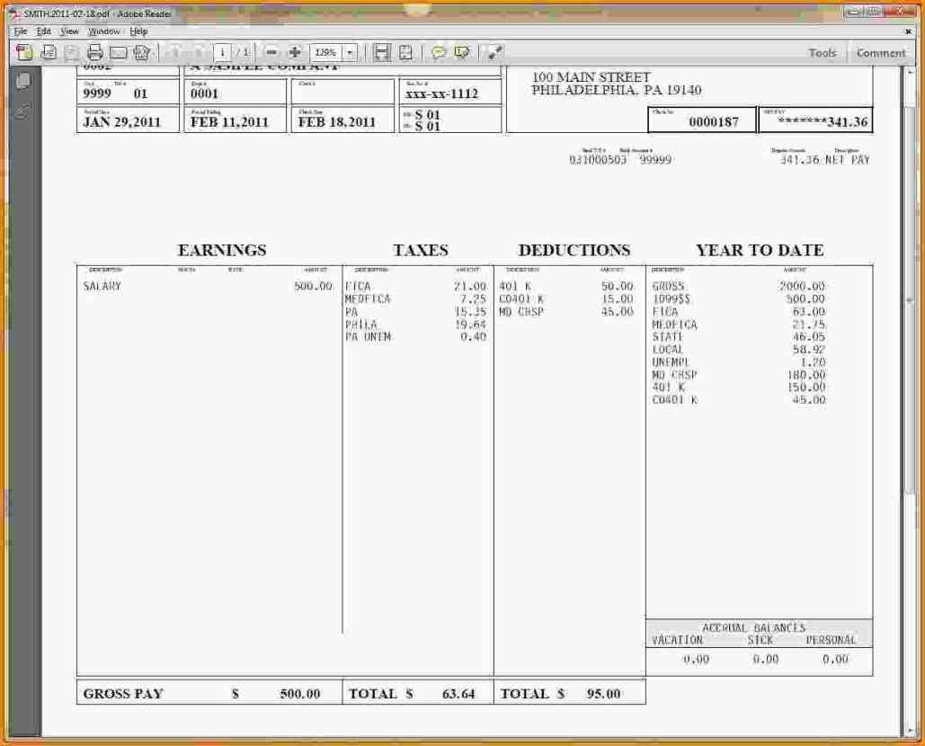 hourly wage then log download Pay Stub Template Word free pay stub ...
