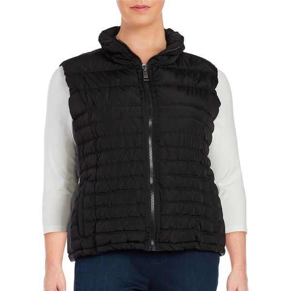 Marc New York Performance Quilted Zip Front Vest ($53) ❤ liked on ... : quilted zip front vest - Adamdwight.com