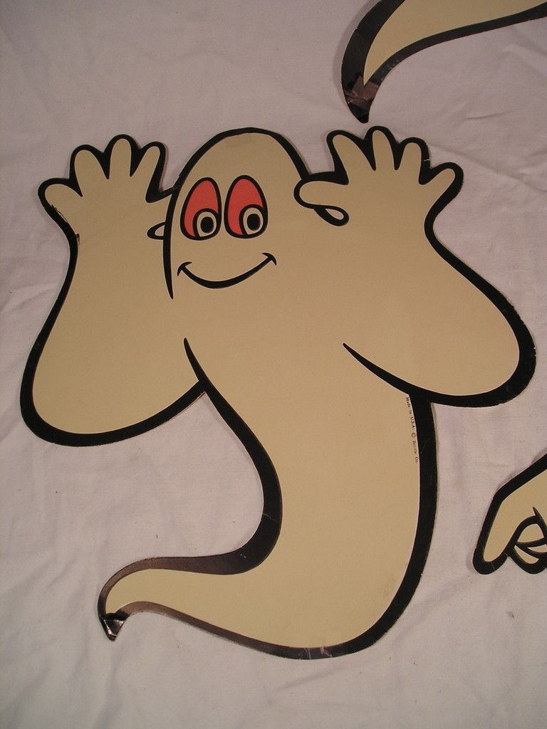 vintage beistle glow ghosts 3 halloween die cut decoration ebay