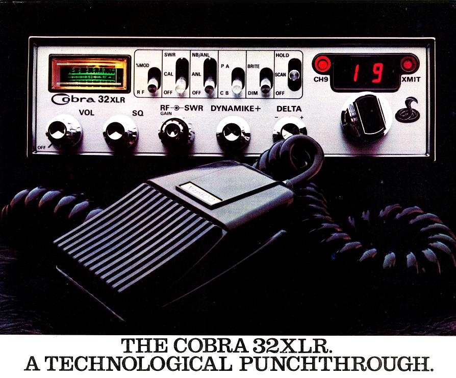 Cobra 32xlr Cb Radio 1976 Cb Radio Ham Radio Radio Communication