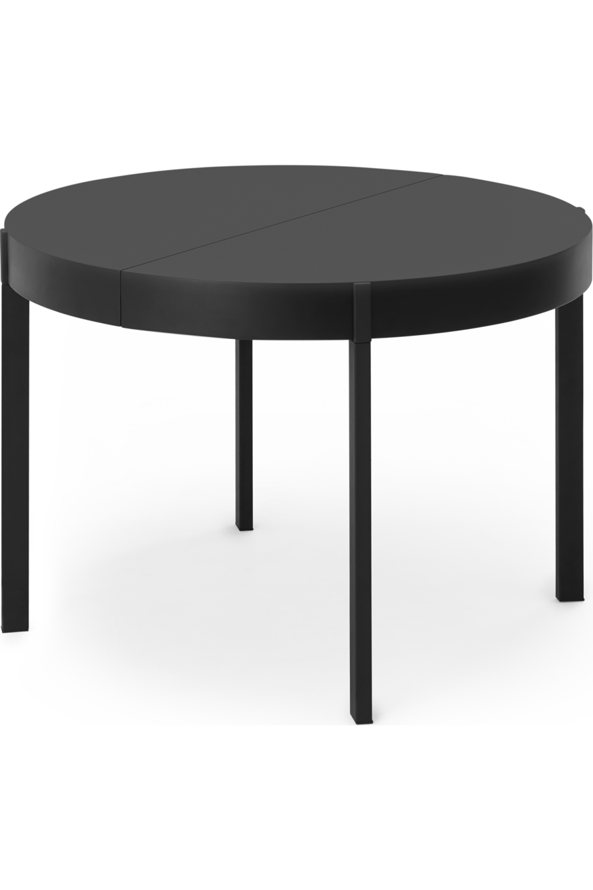 Made Round Extending Dining Table Black Express Delivery Metal