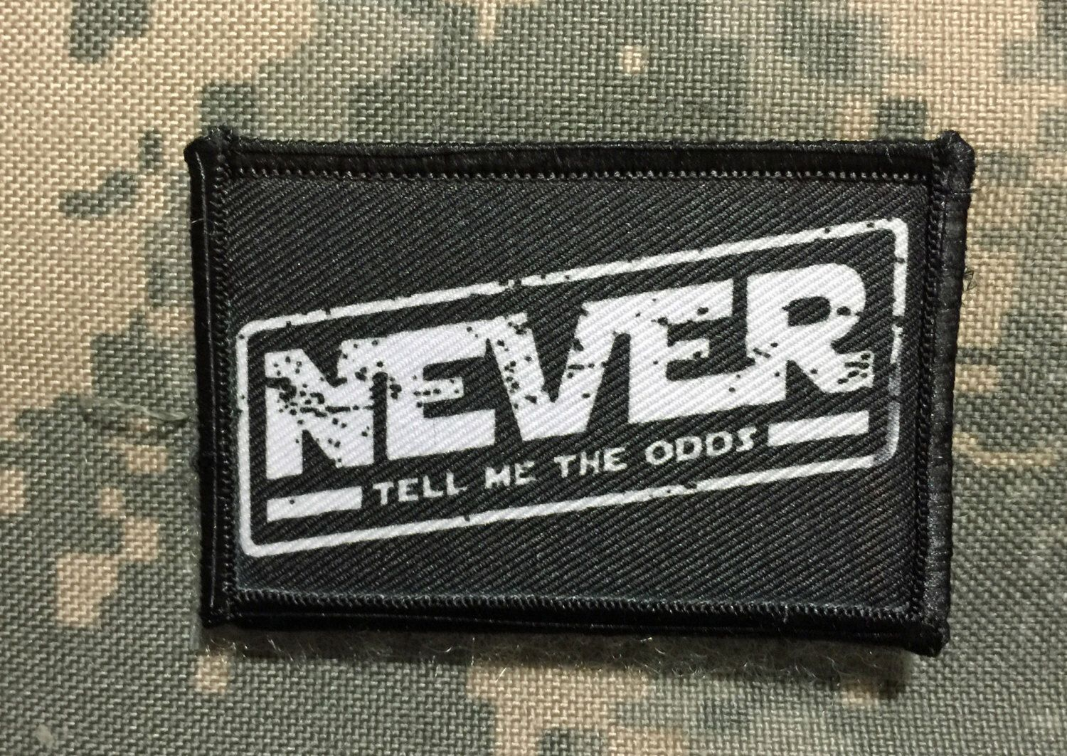 Star wars never tell me the odds velcro morale patch tactical mil spec