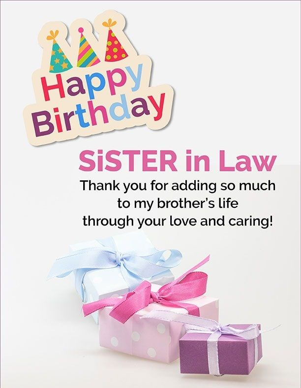 Happy Birthday Sister In Law, Birthday Wishes For Sister In Law