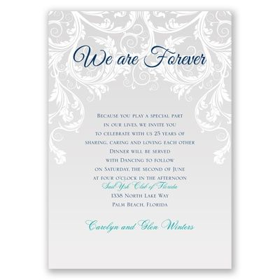 We Are Forever Vow Renewal Invitation – Renewal of Vows Invitation Cards