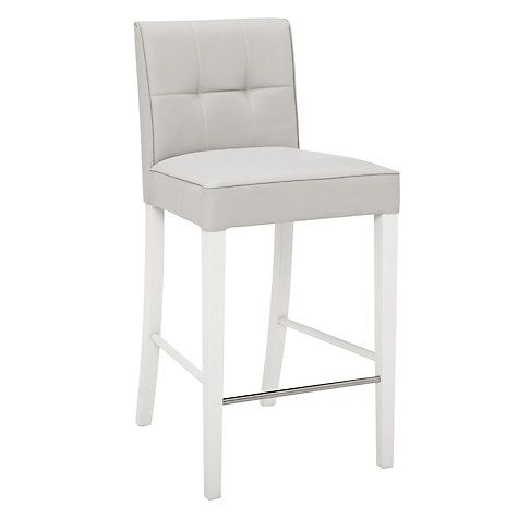 Fine Buy John Lewis Simone Leather Bar Chair Grey Online At Gmtry Best Dining Table And Chair Ideas Images Gmtryco