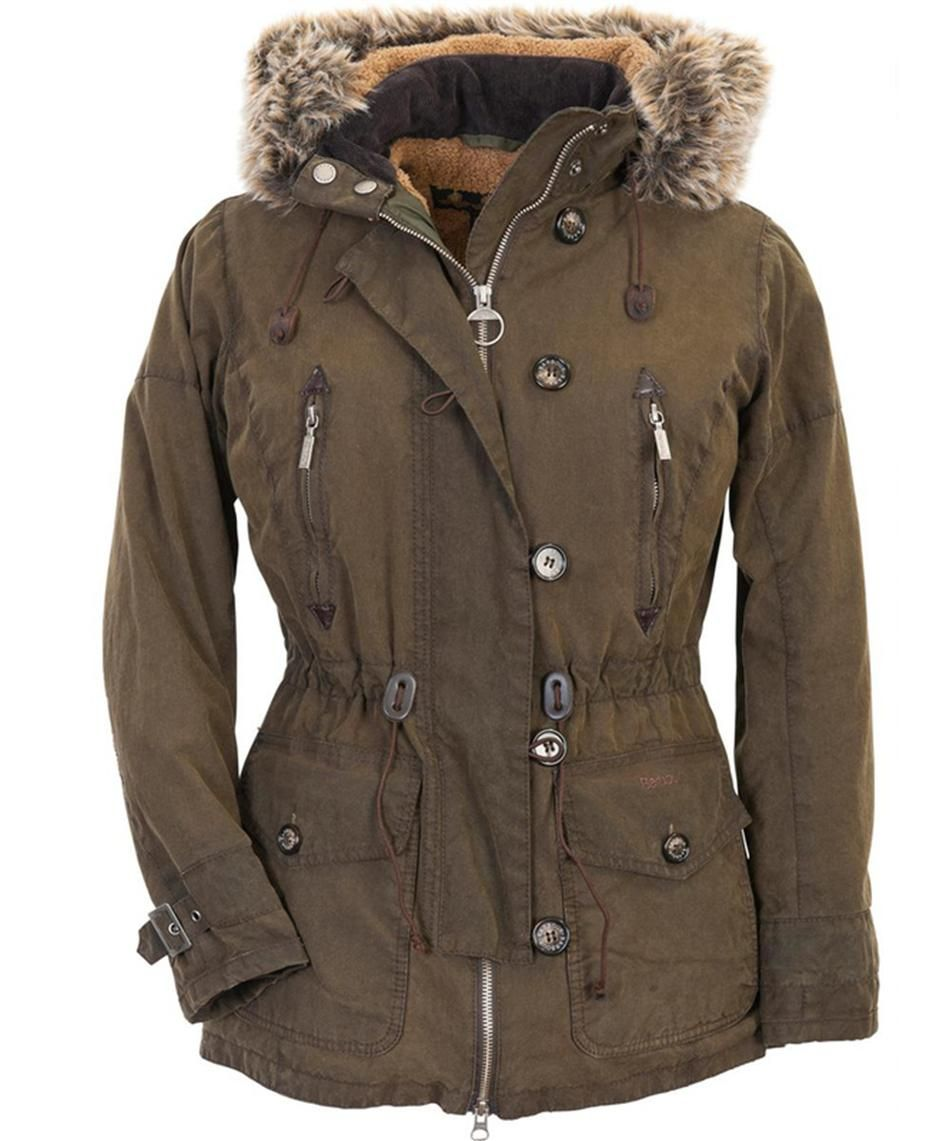 Barbour Women S Vintage Troop Waxed Parka Jacket Olive Barbour Clothing Clothes Clothes Design [ 1141 x 952 Pixel ]