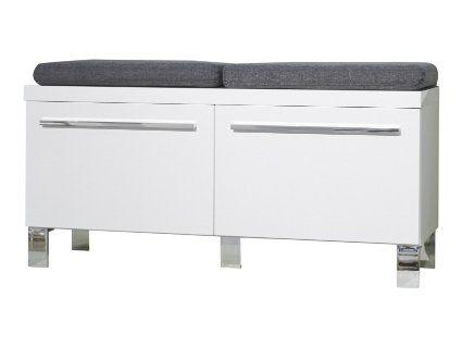 Garderoben Sitzbank trendteam dy57201 garderoben sitzbank weiss hochglanz bxhxt 100 x