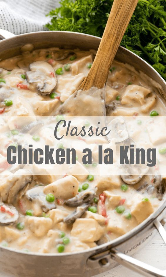 Classic Chicken a la King - thestayathomechef.com