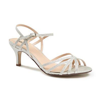 Glitter 'harper' mid kitten heel ankle strap sandals latest sale online cheap sale brand new unisex clearance best seller high quality online footlocker pictures cheap price J5soeiLbfm