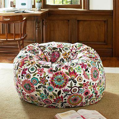 Bella Floral Beanbag Potterybarnteen Bean Bag Chair Bean Bag Chair Kids Bean Bag Design