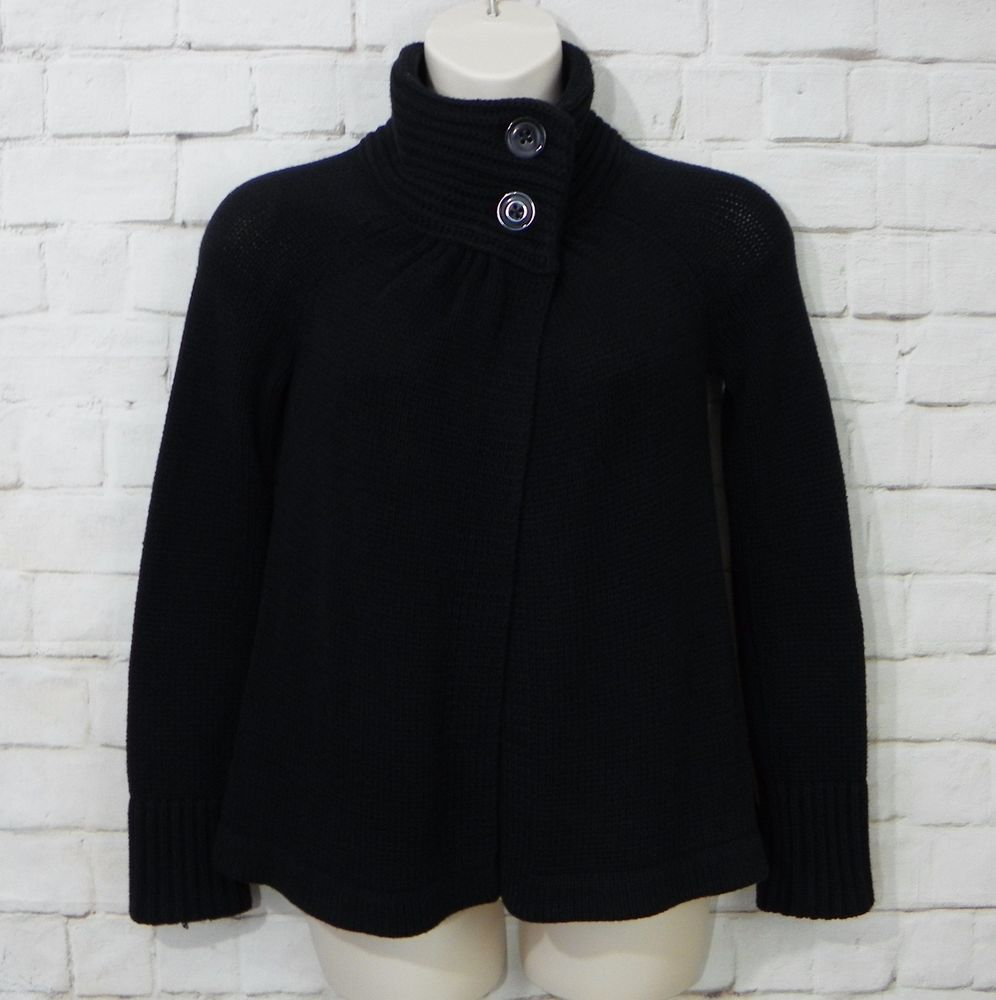 Details about Womens OLD NAVY Black Chunky Cardigan Sweater Open ...
