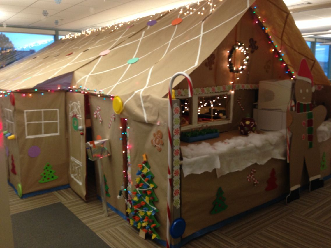 Gingerbread House Office Cubicles Office Christmas