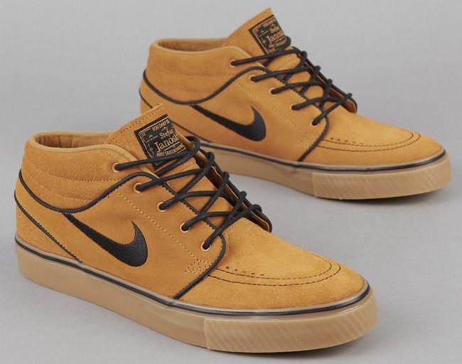 Nike Sb Zoom Stefan Janoski Mid Wheat More Images Kicksonfire Com Hype Shoes Boogie Shoes Nike Sb Janoski