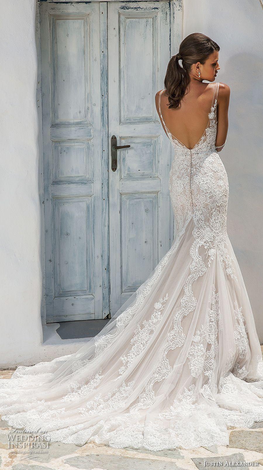 Lace wedding dress ivory january 2019 Justin Alexander  Wedding Dresses  Wedding Dresses  Pinterest