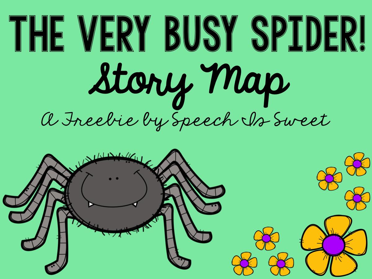 the very busy spider plus freebie bugs speech pinterest