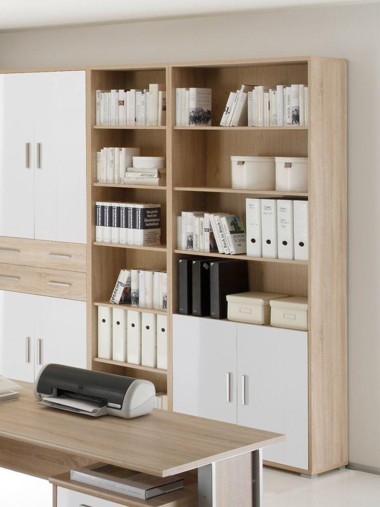 Schrank Fur Buro Aktenschrank Buroschrank Weiss Eiche Sonoma Dekor Office Line Ebay Sofa Home Office Decor Home Furniture