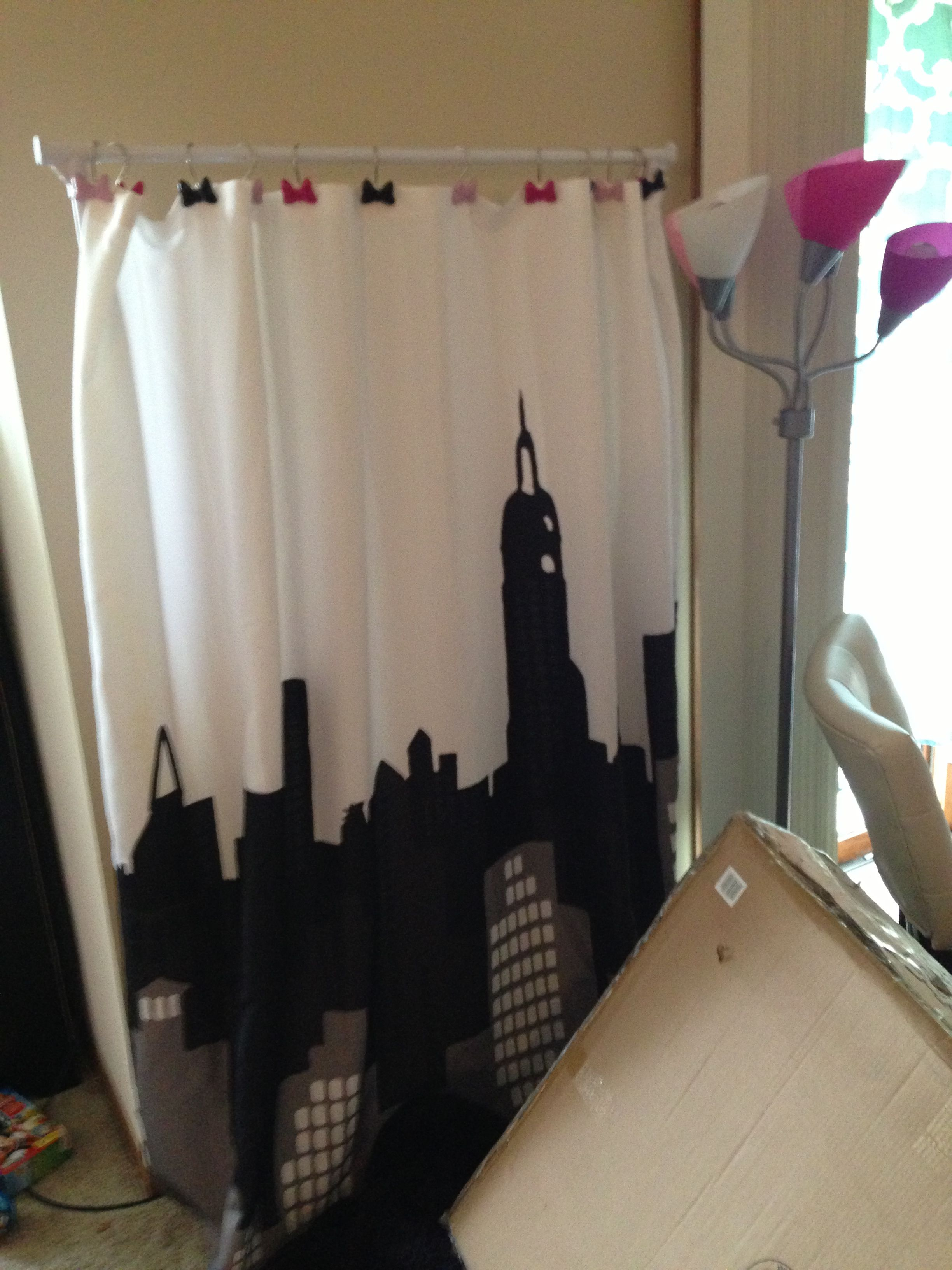Genial A Shower Curtain Hung On A Free Standing Closet Rack. Adds 3d Art To Your  Space!!