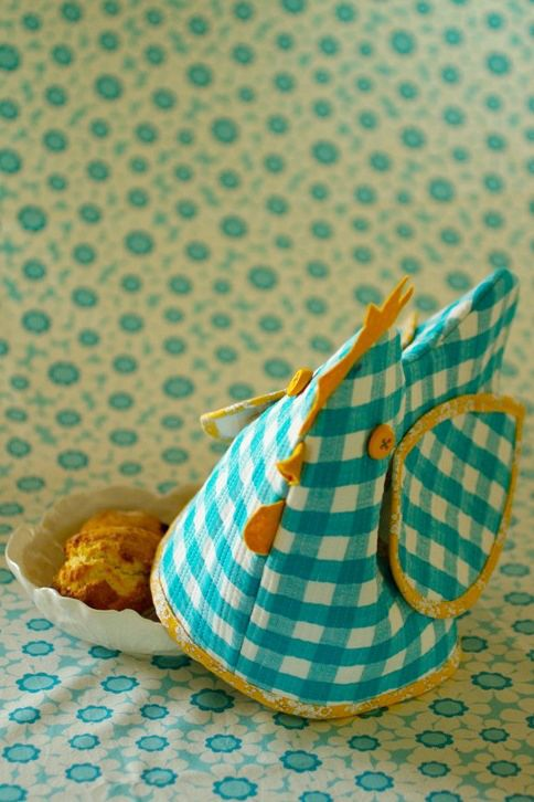Bread basket cover- no tutorial, but great idea!  The wings lift so you can grab a bite to eat!