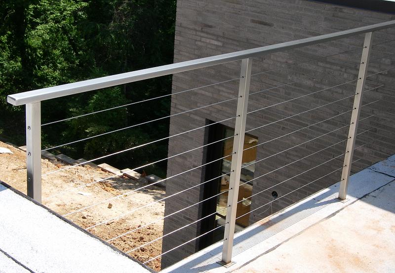 Modern Deck Railing: Aluminum U0026 Cable Wire
