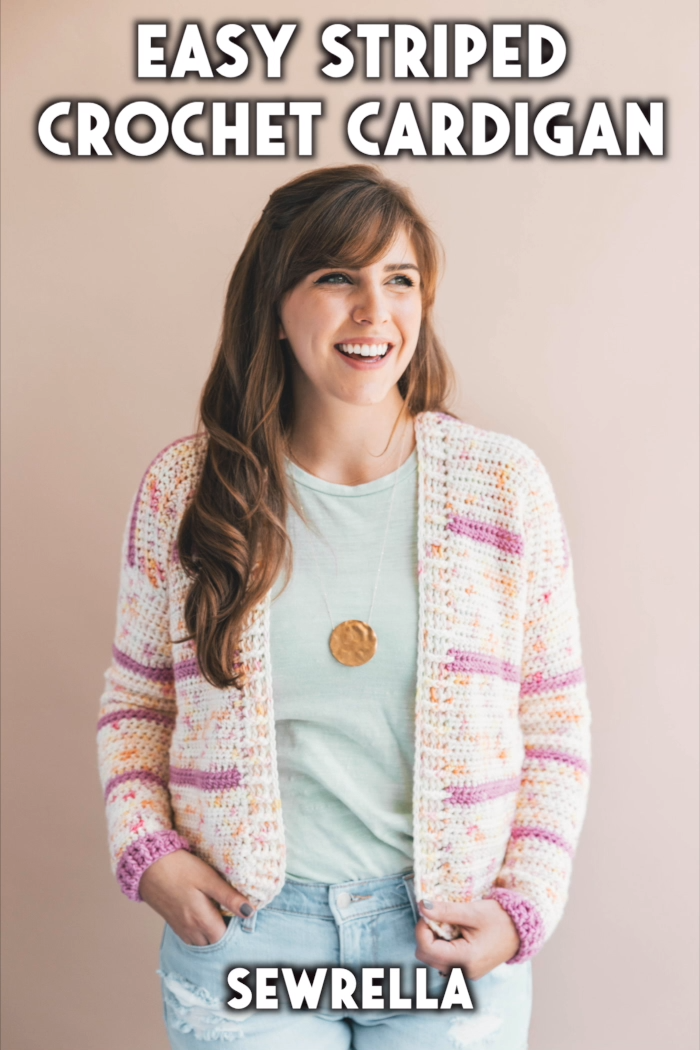 Photo of Easy Crochet Striped Cardigan – free pattern