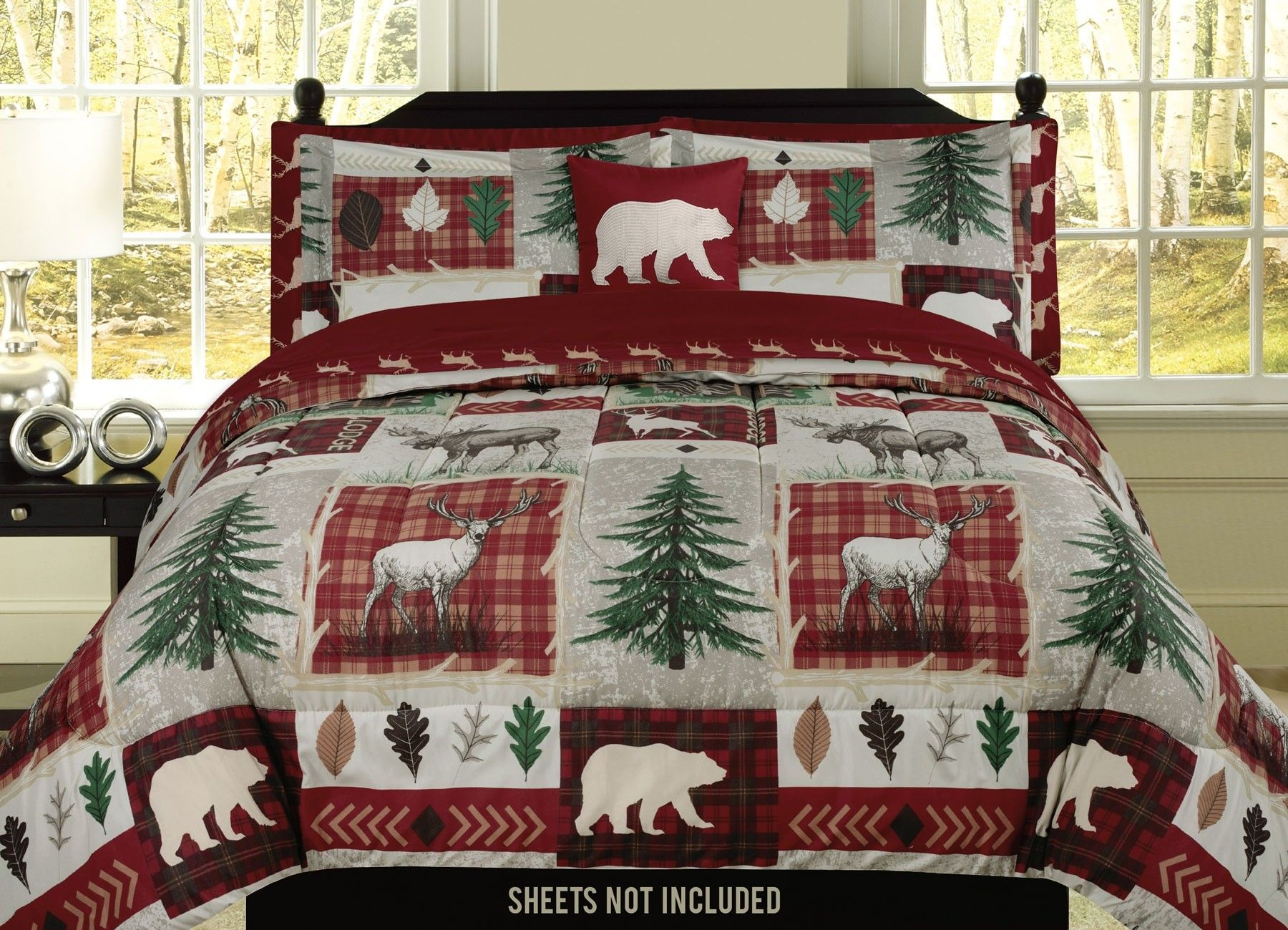 exotic lodge black or plush faux huskie tip cabins decor pin throw fur cabin comforters modern polar bear