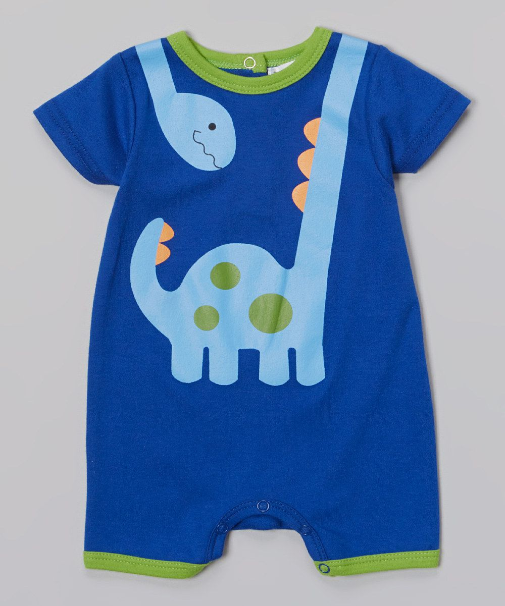 Love this Rumble Tumble Blue & Green Dino Romper - Infant by Rumble Tumble on #zulily! #zulilyfinds
