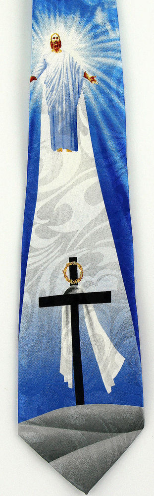 Jesus heaven risen mens necktie religious christian easter cross jesus heaven risen mens necktie religious christian easter cross gift tie new c stevenharris negle Images