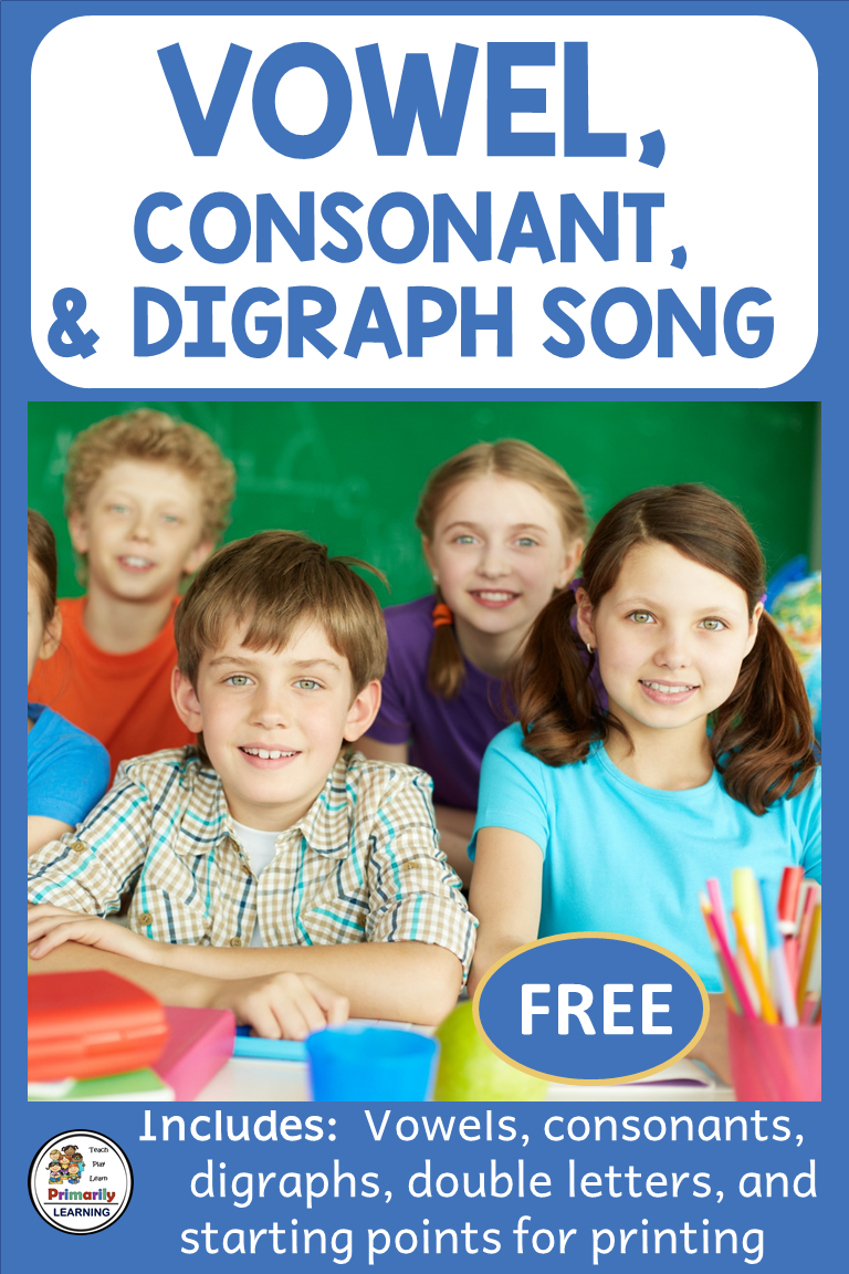 Vowel, Consonant & Digraph Song FREE Distance Learning