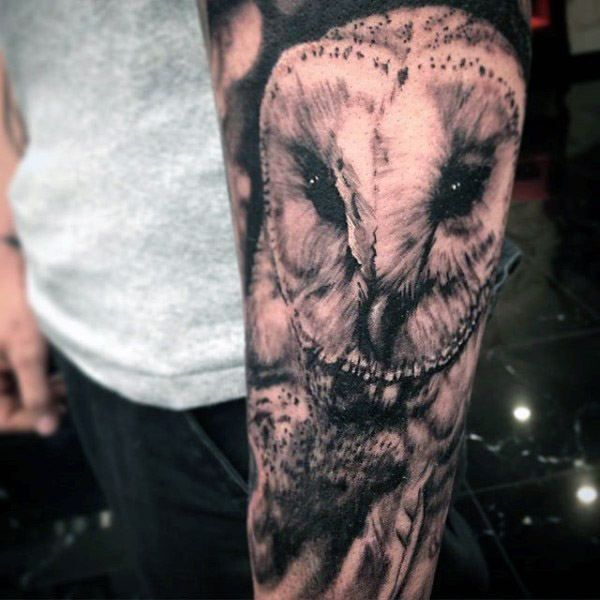 60 Barn Owl Tattoo Designs For Men Lunar Creature Ink Ideas Barn Owl Tattoo Baby Owl Tattoos Barn Owl