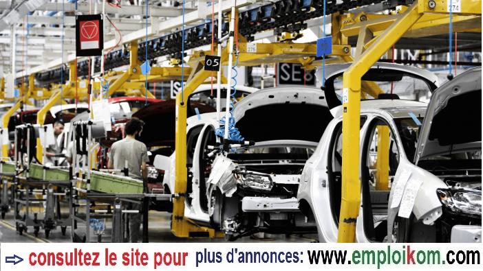 Recrutement de 50 OPÉRATEURS DE PRODUCTION AUTOMOBILE sur