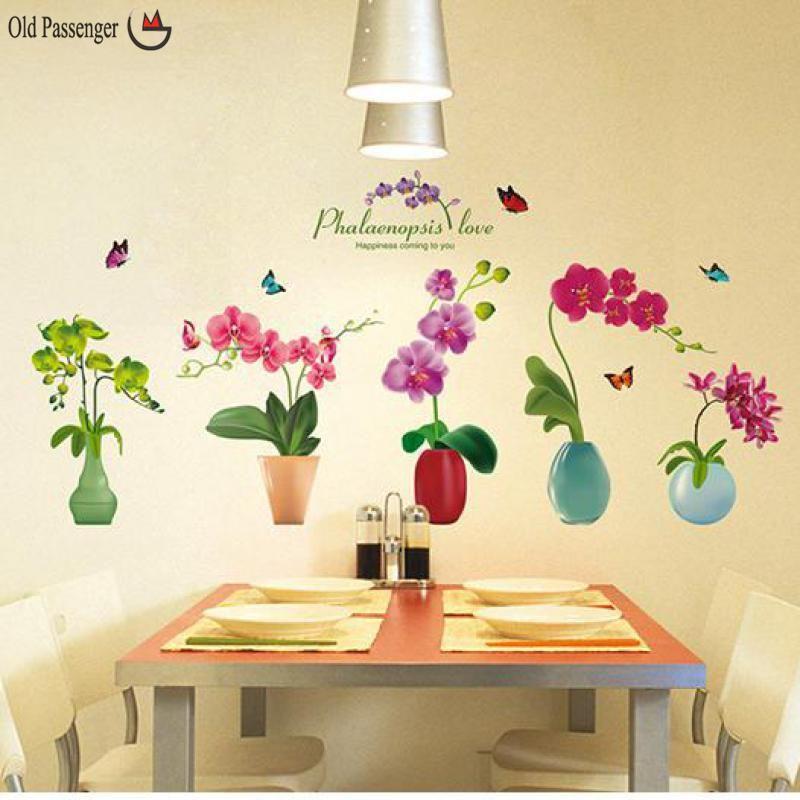 Old Passenger _ 3D New Beautiful Flower Pot Stickers Wall Stickers ...