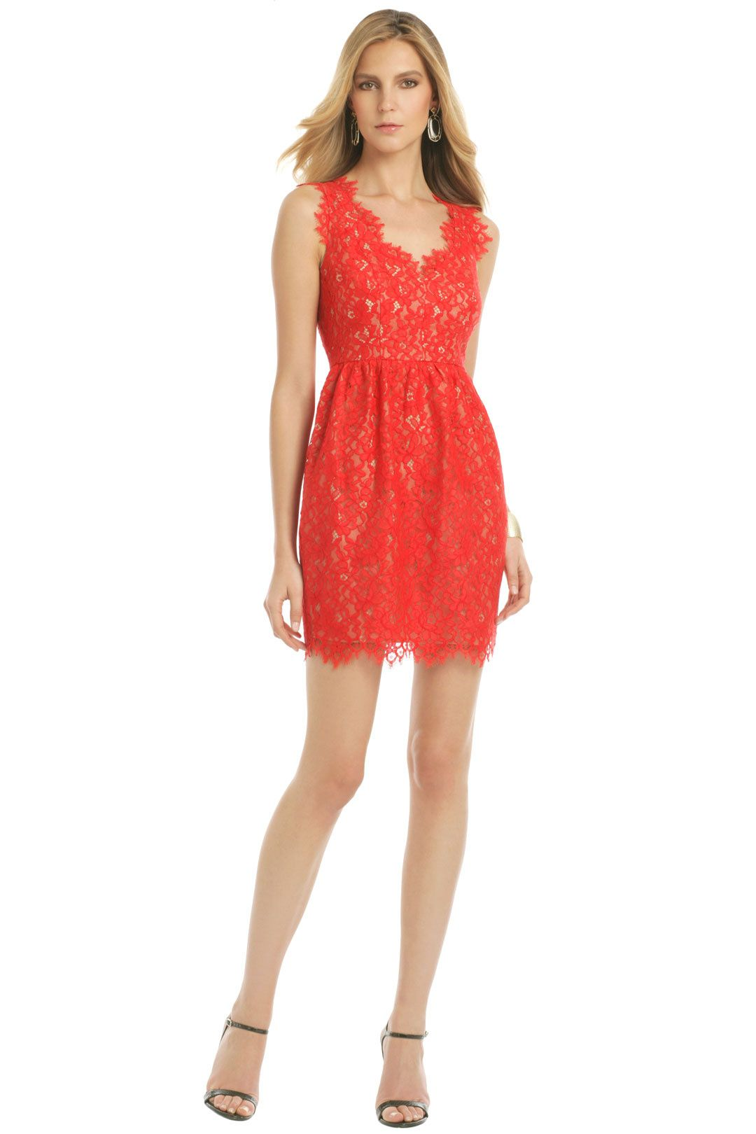 Lace Sierra Dress by Shoshanna for $40 – $50 | Rent The Runway ...