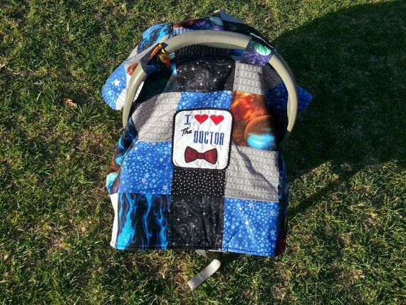 Adorable Baby Dr Who I Love The Doctor Bow Tie Infant Car Seat Cover Nursing Cape Blanket W Pocket Tardis BBC On Etsy 4500
